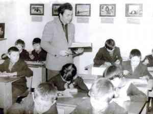В школе с.Лобаново.