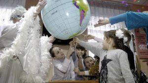Джанкой в объективе На урок в волшебной маске Dzhankoj. 1 den zimy.