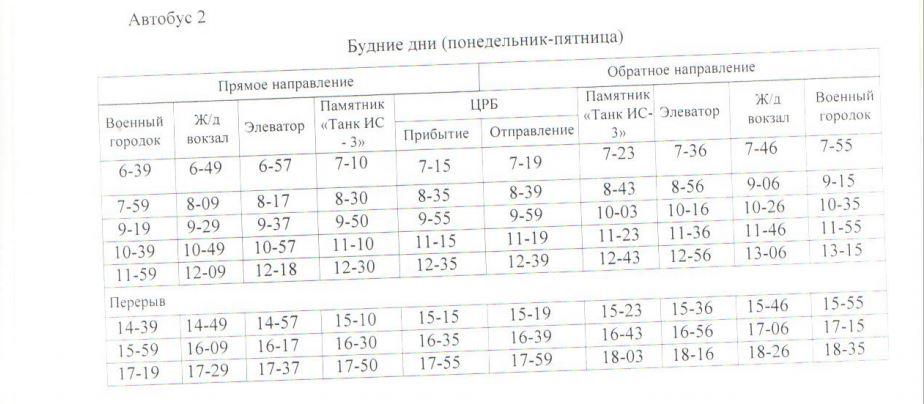 Расписание автобусов. Джанкой. маршрут 8 - автобус 2 - будни
