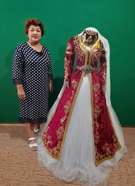 Джанкойские мастерицы. Работа Зиядиновой Зоре. Женский свадебный наряд для никяха.