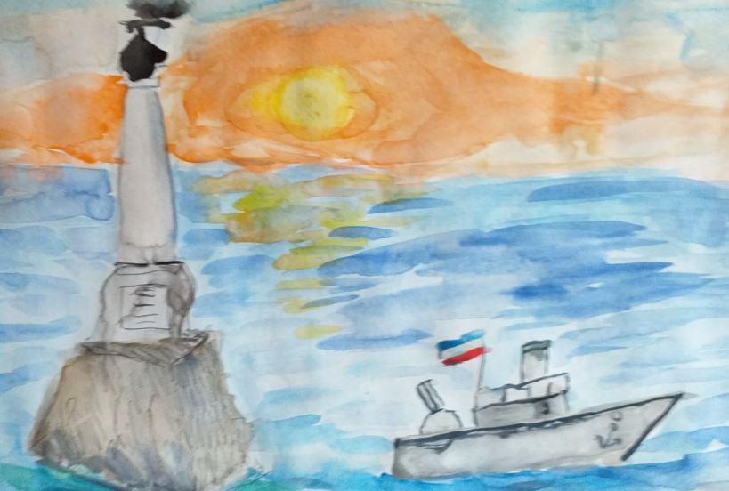 студия ТАЛАНТИКИ. рисунки ко Дню Государственного флага и герба Крыма