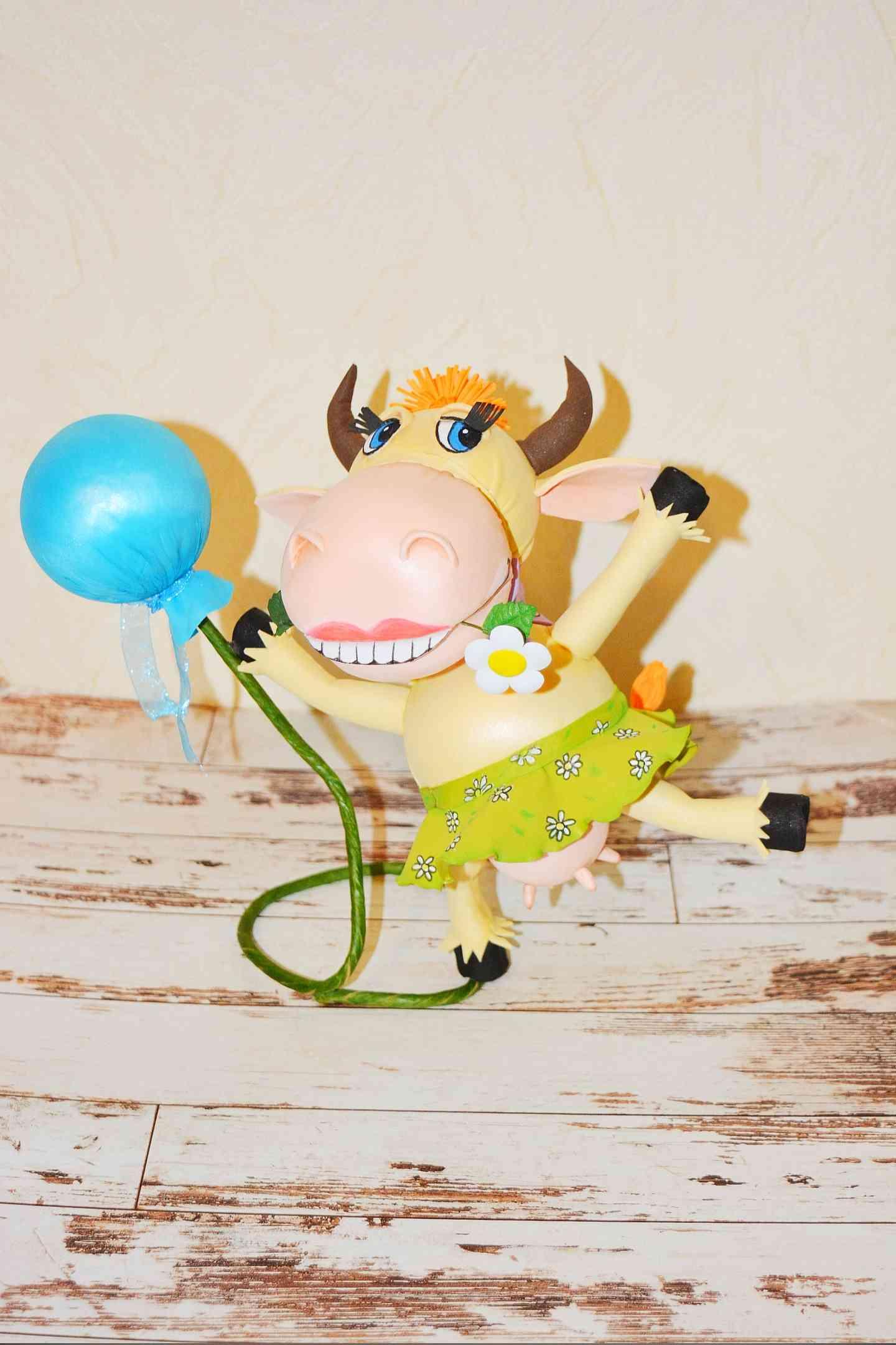 символ года Работа Ольта Екатерины Счастливая корова