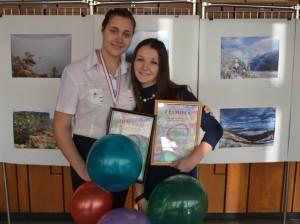 Александра Вострикова со своим наставником
